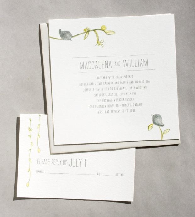 songbird wedding invitation by sweet penelope