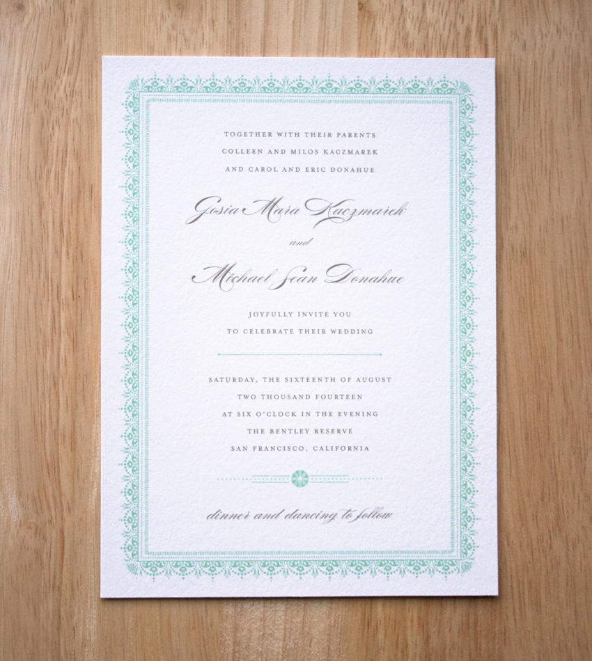 Gaudeo Invitation by Sweet Penelope